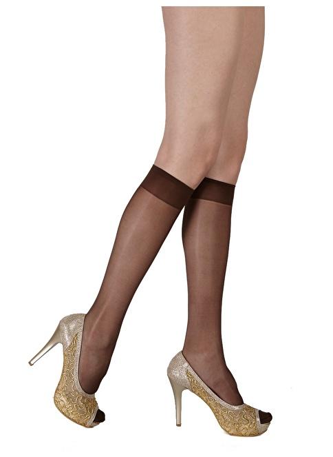 Pierre Cardin 4'Lü Mat Dizaltı Çorap  Kahve